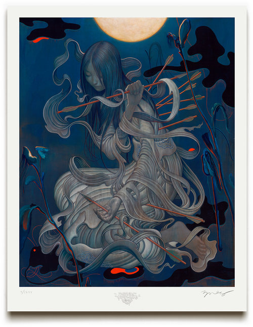 """Chang'e"" by James Jean.  25.5"" x 20"" Giclee w/ Diamond dust screen-printed elements.  Timed edition S/N.  $200"