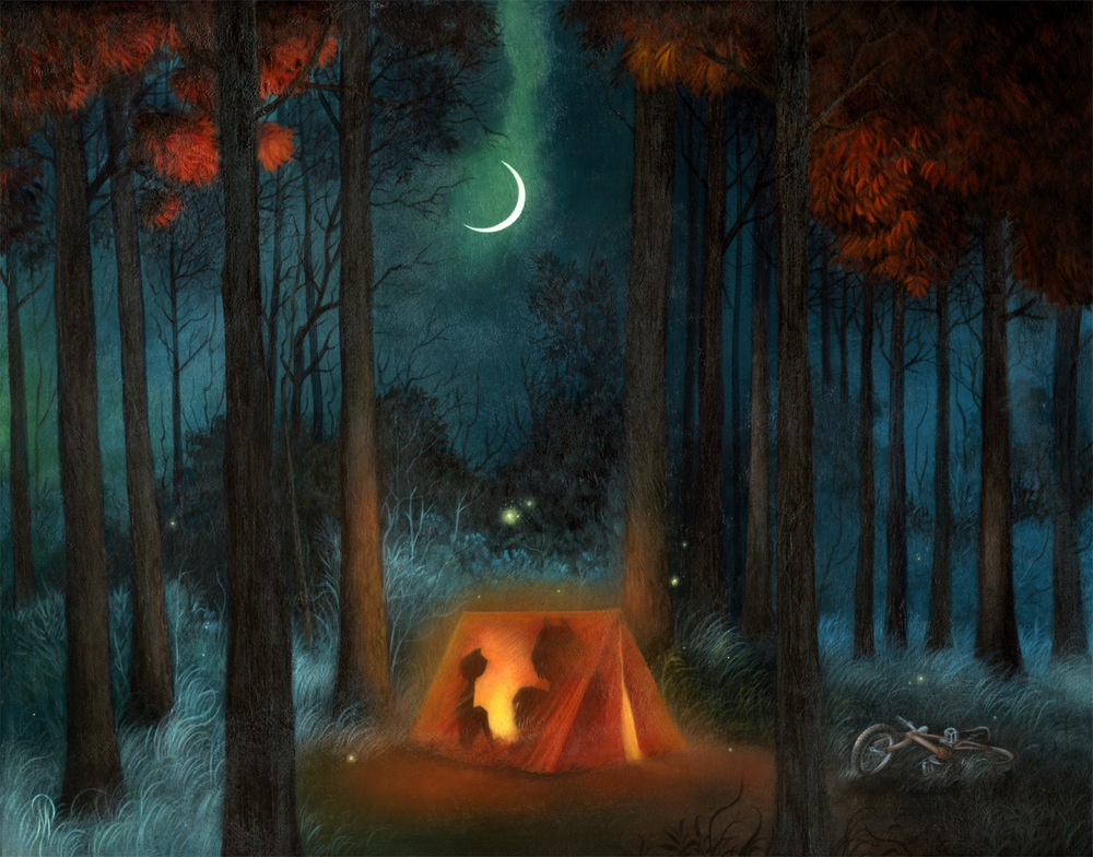 """Campout"" by Dan May.  19"" x 15"" Giclee.  Ed of 65 S/N.  $75"
