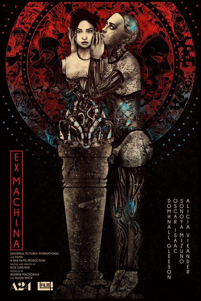 """Ex Machina"" by Nikita Kaun.  24"" x 36"" 4-color Screenprint.  AP edition of 7.  $69"