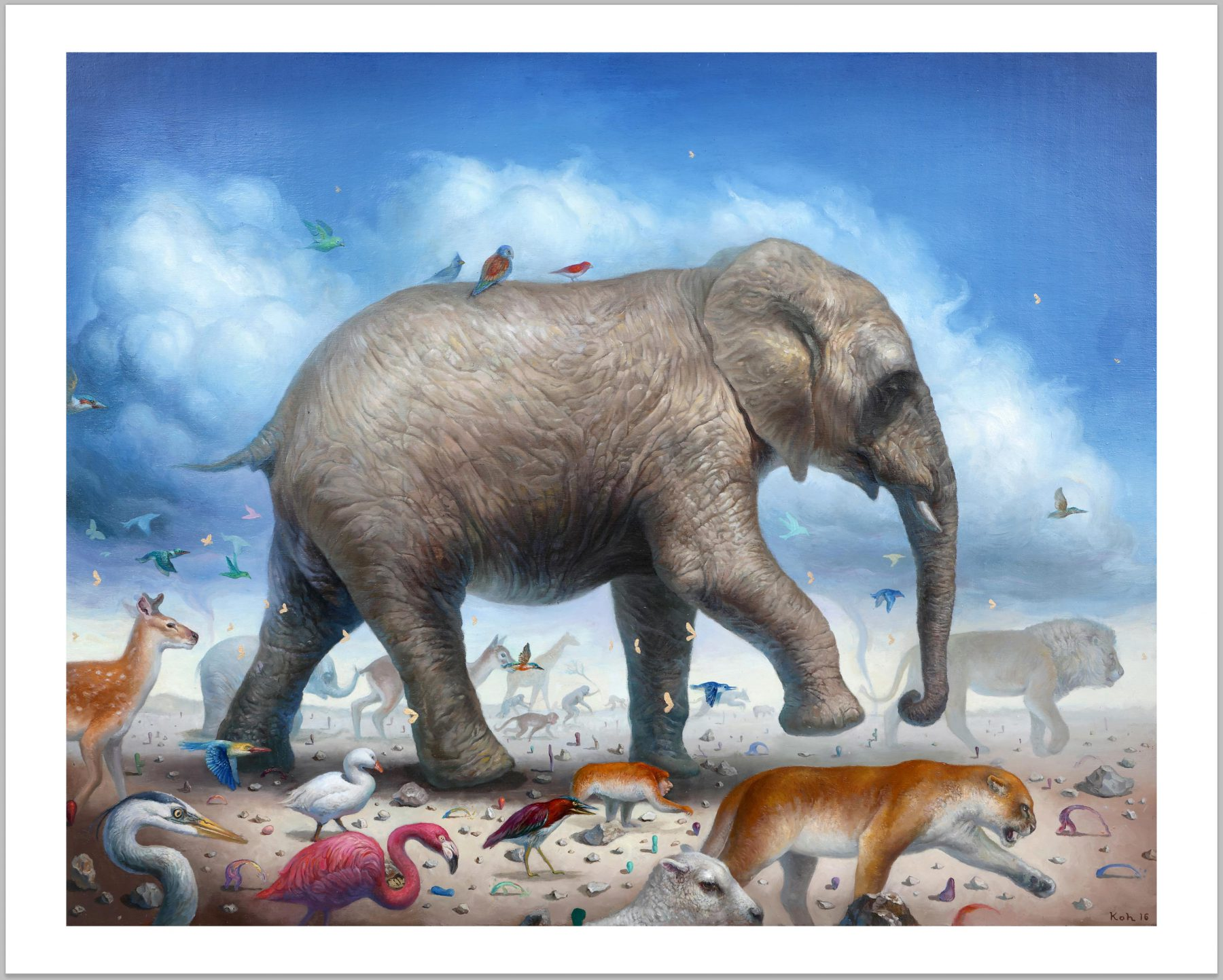 """Way of Life"" by KiSung Koh.  16"" x 20"" Giclee.  Ed of 50 S/N.  $75"