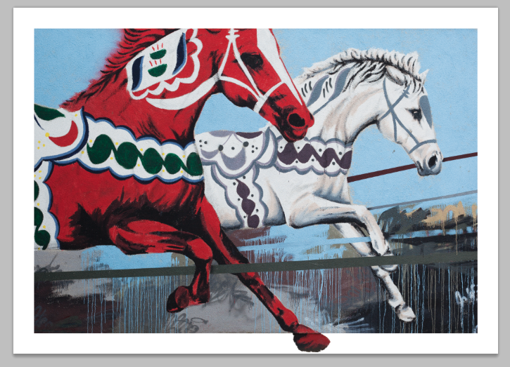 """The Dalas Horses"" by Shai Dahan.  50 x 70cm Giclee.  Timed edition S/N.  500 SEK ($58)"