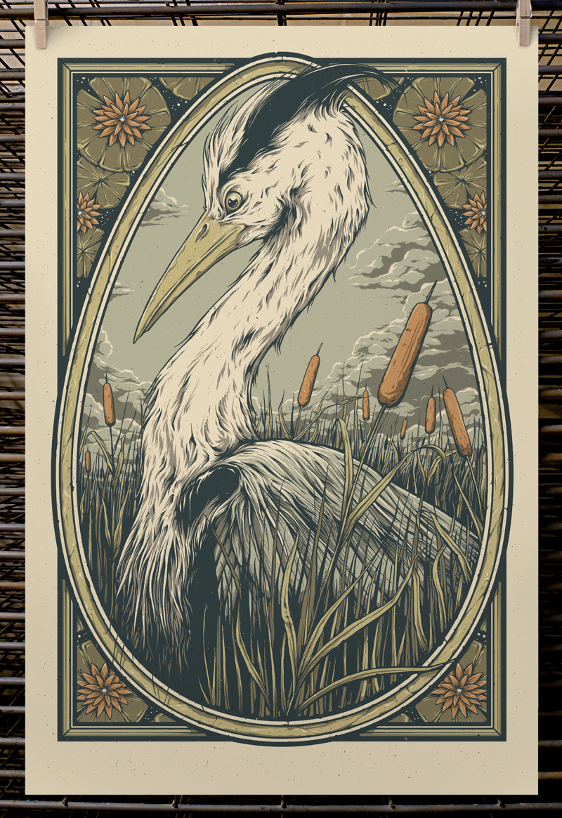 """To Wade Into"" by Joel Hunter.  16"" x 24"" 5-color Screenprint.  Edition of 75 S/N.  $30 (1st edition)"