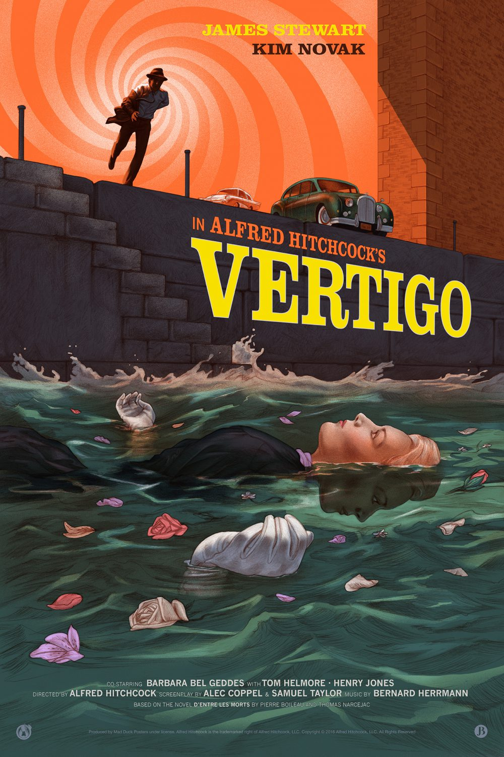 """Vertigo"" by Jonathan Burton.  24"" x 36"" 10-color Screenprint w/ metallics.  Ed of 125.  $85 (variant)"