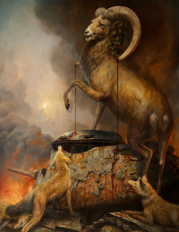 """Bacchanal"" by Martin Wittfooth.  22"" x 28"" Giclee.  Ed of 50 S/N.  $200"