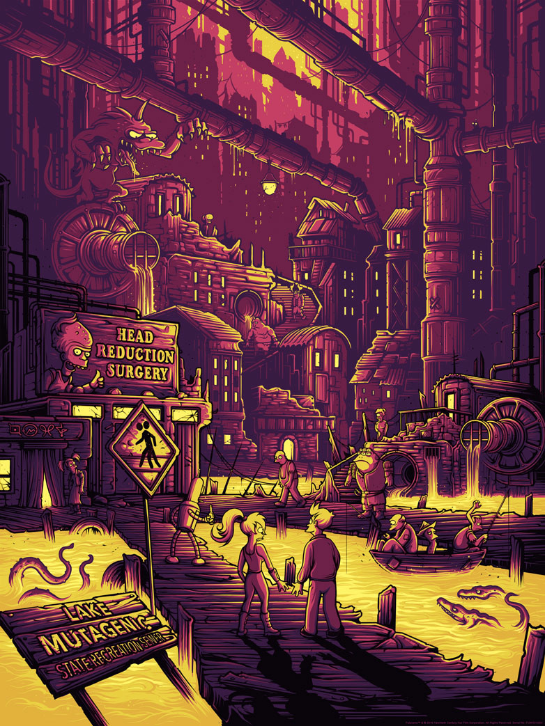 """You Guys Realize You Live in a Sewer, Right?"" by Dan Mumford.  18"" x 24"" Screenprint.  Ed of 100.  $50 (variant)"