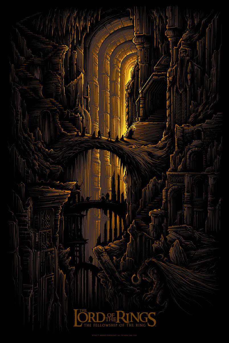 """​The Fellowship of the Ring (LOTR)"" by Dan Mumford.  24"" x 36"" 5-color Screenprint.  Ed of 200.  €50 ($56)"