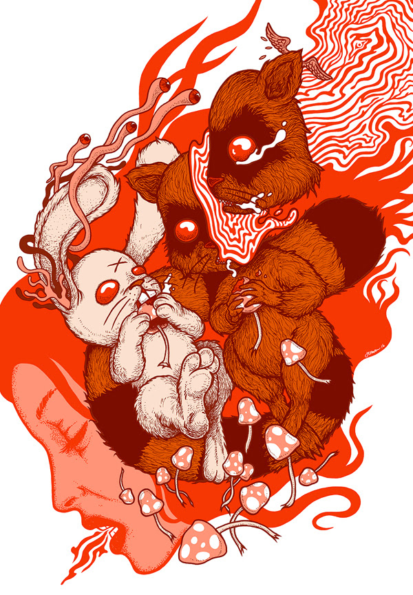 """Lose Your Head"" by Jermaine Rogers.  26"" x 18"" Screenprint.  Ed of 50 S/N.  $60"