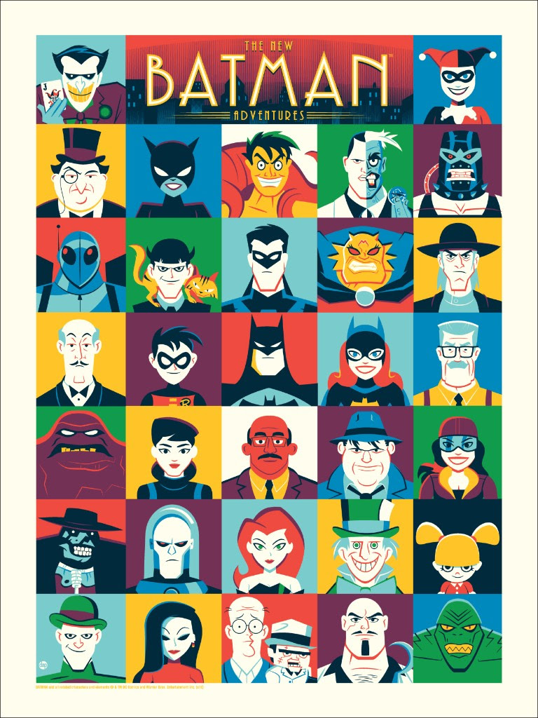 "The New Batman Adventures by Dave Perillo. 18""x24"" screen print. Hand numbered. Edition of 225. Printed by D&L Screenprinting. $40"