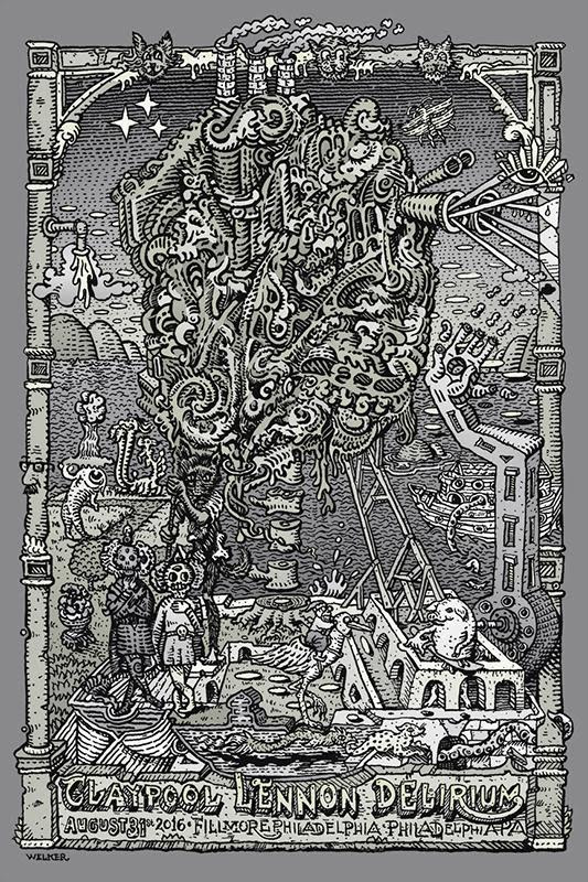 """Claypool Lennon Delirium - Philadelphia, PA 2016"" by David Welker.  Ed of 50.  $50"