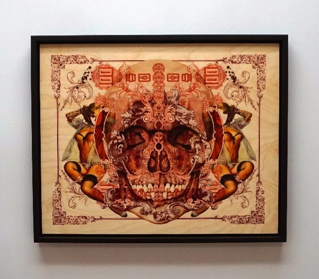 """""""Virgo et Mortis"""" by Handiedan.  18"""" x 14.4"""" Giclee on  1/2"""" sustainable Birch.  Ed of 100 S/N.  $125 unframed : $164 framed"""