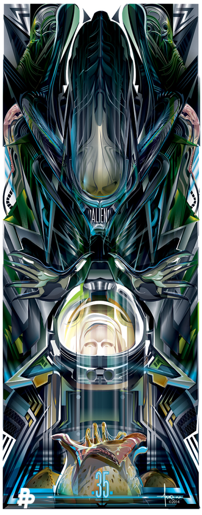 """Evo"" by Orlando Arocena.  13"" x 32"" Lithograph.  Ed of 395.  $40"