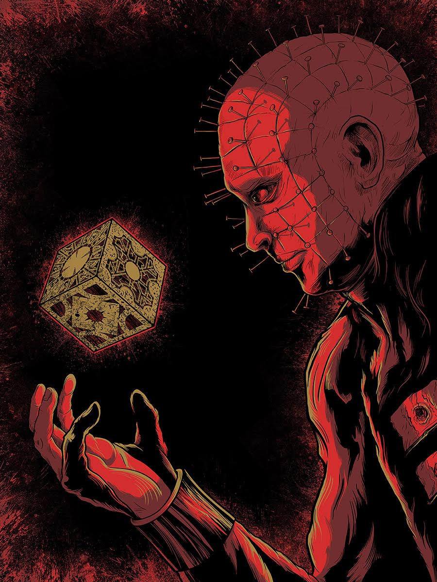 """Hellraiser"" by Matthew Johnson.  18"" x 24"" Screenprint.  Ed of 60 S/N.  $25"
