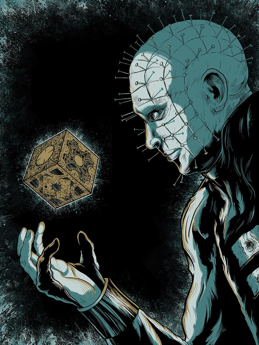 """Hellraiser"" by Matthew Johnson.  18"" x 24"" Screenprint.  Ed of 20 S/N.  $30 (variant)"