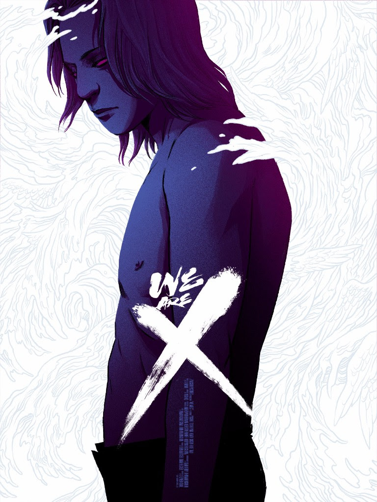 "We Are X by Becky Cloonan. 18""x24"" screen print. Hand numbered. Edition of 100. Printed by DL Screenprinting. $40"