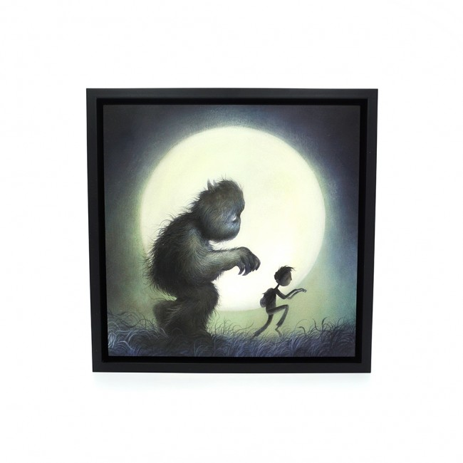 """We Were Monsters"" by Dan May.  12"" x 12"" Giclee on wood.  Timed edition S/N.  $75"