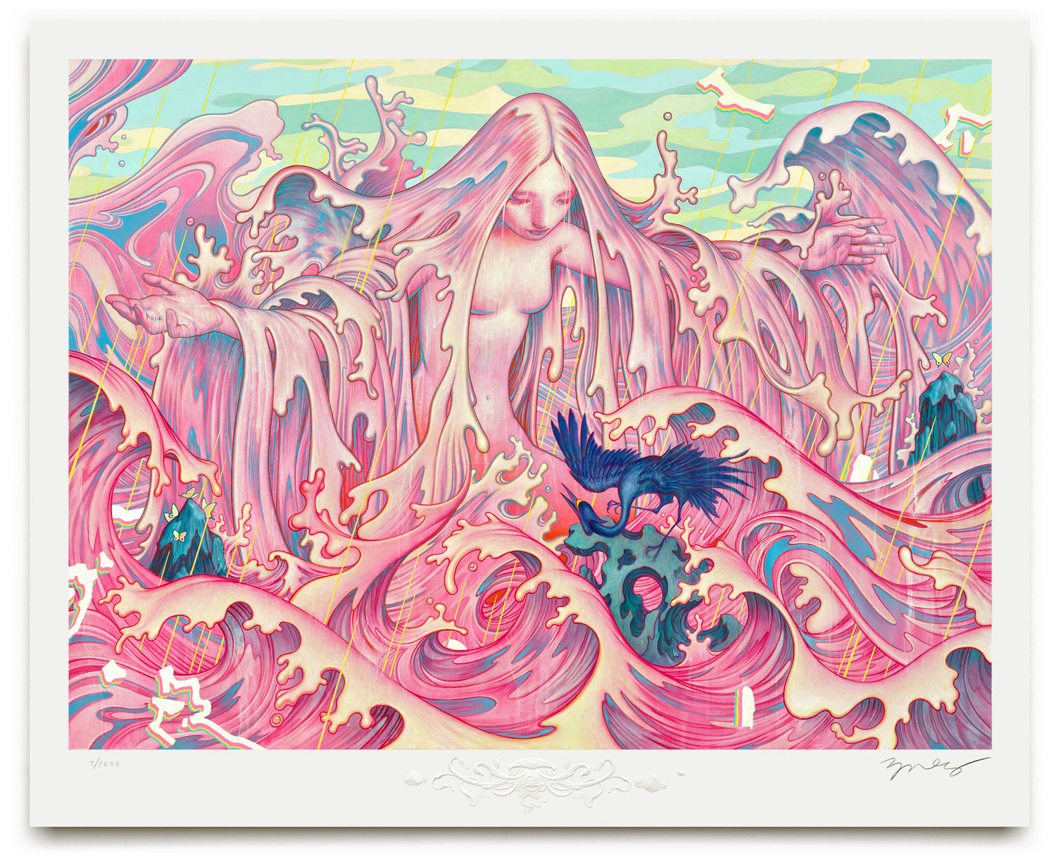 """Adrift II"" by James Jean.  28"" x 22.5"" Giclee.  Timed edition S/N.  $200"