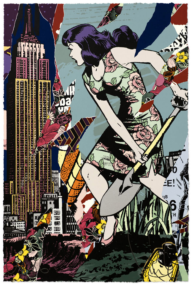 """Bad Seeds"" by Faile.  23"" x 35"" 24-color Screenprint.  Ed of 300 S/N.  $495"