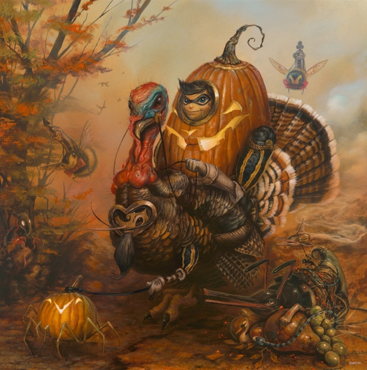 """The Gobbler"" by Greg 'Craola' Simkins.  20"" x 30"" Giclee.  Ed of 30 S/N.  $165"