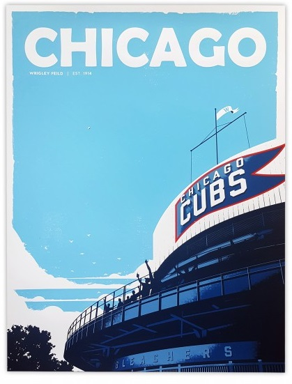 """Home Run"" by Justin Van Genderen.  18"" x 24"" 5-color Screenprint.  Ed of 100.  $45"