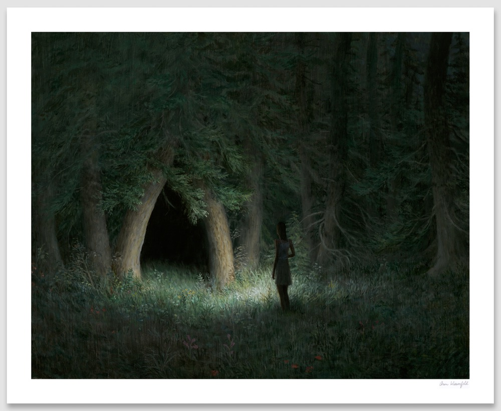 """Night Grove"" by Aron Wiesenfeld.  16"" x 20"" Giclee.  Timed edition S/N.  $135"