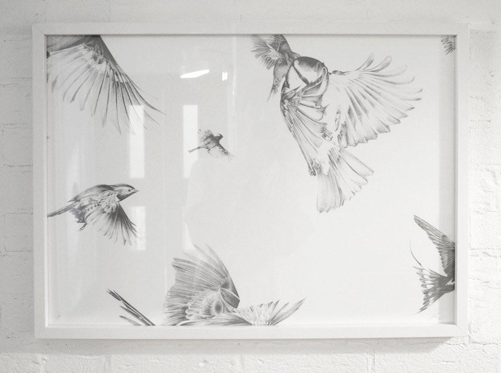 """Migration"" by Von.  50 x 70cm Screenprint.  Ed of 20 S/N.  £150 ($188)"