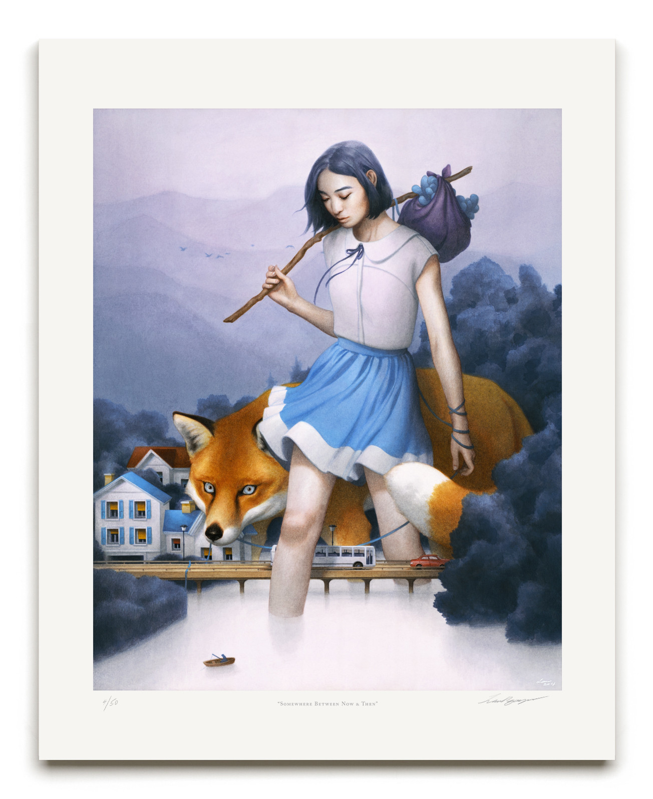 """Somewhere Between Now & Then"" by Tran Nguyen.  16"" x 20"" Giclee.  Ed of 50 S/N.  $100"