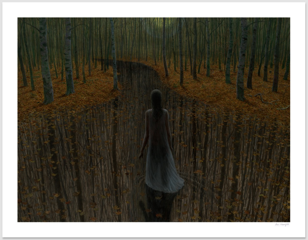 """Night Grove"" by Aron Wiesenfeld.  23.5"" x 30"" Giclee.  Timed edition S/N.  $175"