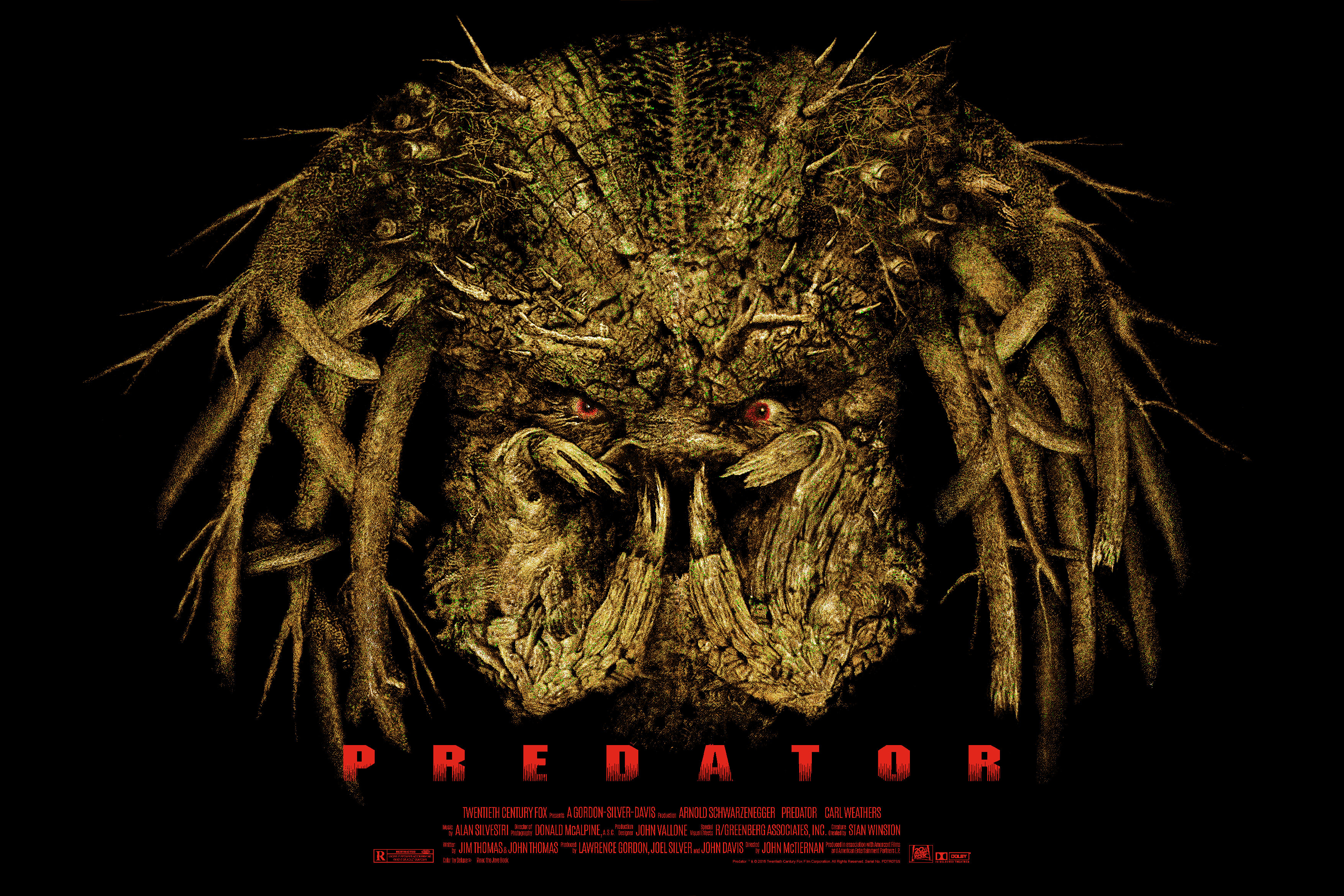 """Predator"" by Elvisdead.  24"" x 36"" Screenprint.  Ed of 170.  $50"