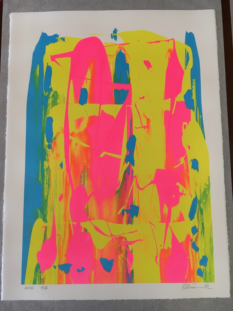 """Studio Session #606"" by Tim Oliveira.  22"" x 30"" Screenprint, unique.  Ed of 6 S/N.  $48 (4 of 6)"