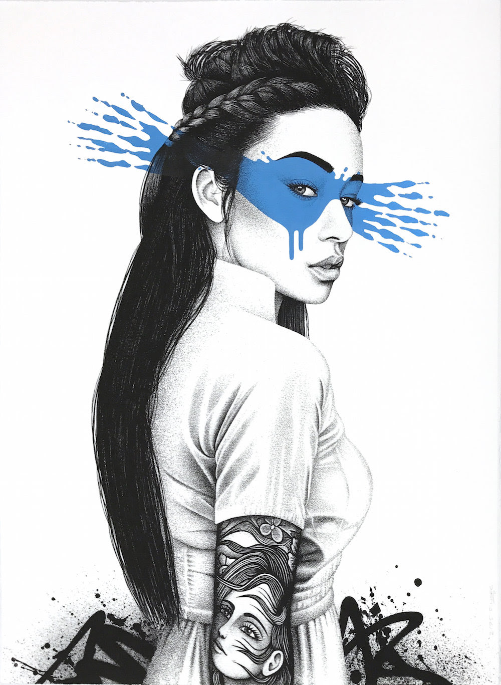 """Shioya"" by FinDAC.  76 x 56cm Screenprint, hand-finished.  Ed of 75 S/N.  200€ ($217)"