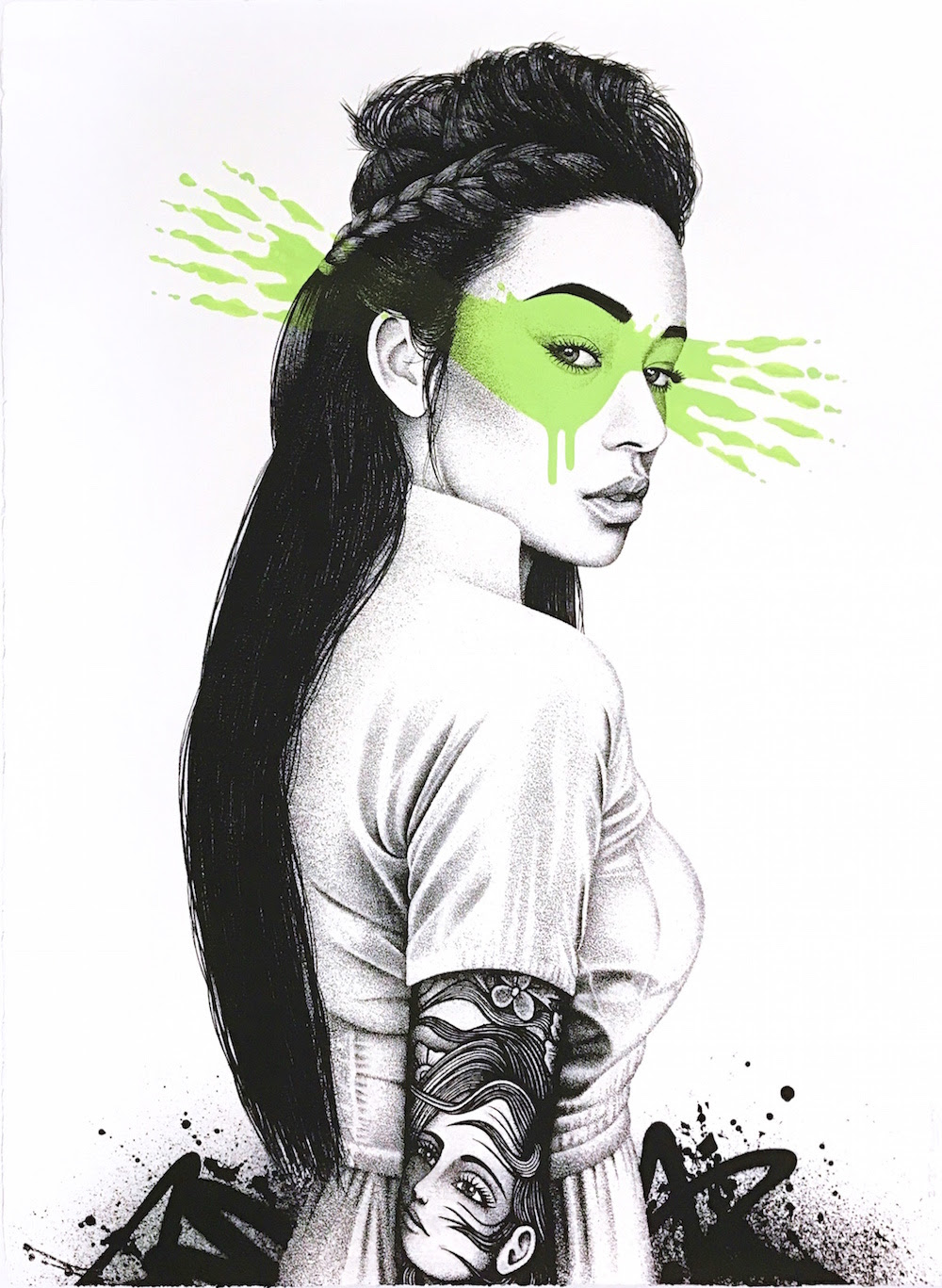 """Shioya"" by FinDAC.  76 x 56cm Screenprint, hand-finished.  Ed of 35 S/N.  250€ ($270)"