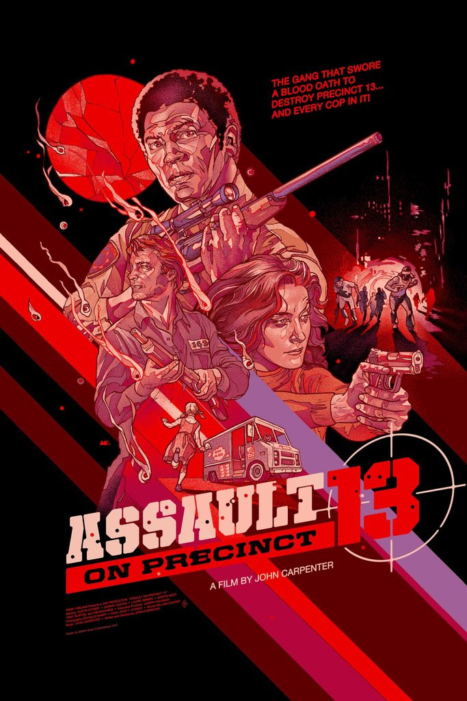 """Assault on Precinct 13"" by Martin Ansin.  24"" x 36"" Screenprint.  Ed of 225 N.  $50"