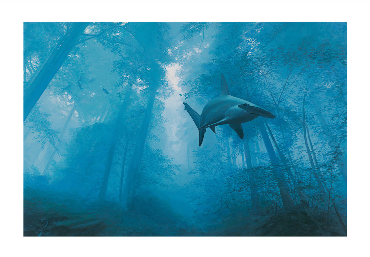 """Phantom"" by Josh Keyes.  21"" x 15"" Giclee.  Ed of 100 S/N.  $150"