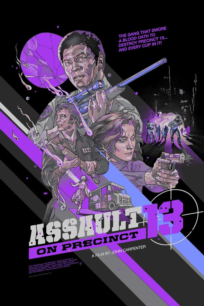 """Assault on Precinct 13"" by Martin Ansin.  24"" x 36"" Screenprint.  Ed of 75 N.  $65 (variant)"