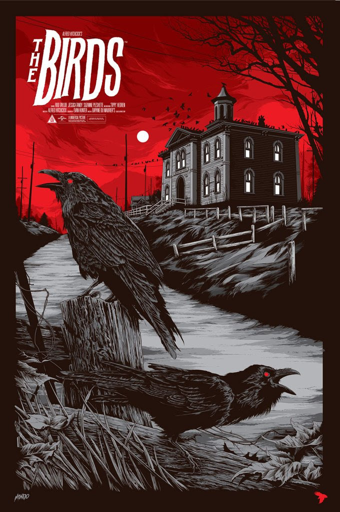"The Birds by Ken Taylor. 24""x36"" screen print. Hand numbered. Edition of 325. Printed by D&L Screenprinting. $45"