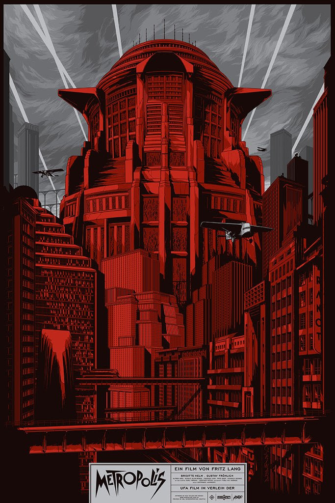 "Metropolis (Variant) by Ken Taylor. 24""x36"" screen print. Hand numbered. Edition of 125. Printed by D&L Screenprinting. $65"