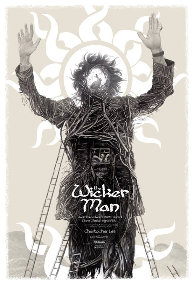 """The Wicker Man"" By Greg Ruth.  24"" x 36"" 12-color Screenprint.  Ed of 125.  $60"