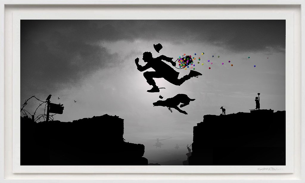 """Catch Me If You Can"" by Kenny Random.  58 x 100cm Giclee.  Timed edition.  €250 ($268)"
