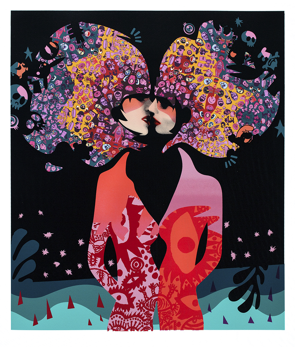 """Enchantment Under the Sea Dance"" by Miss Bugs.  24"" x 28"" Screenprint/Stencil.  Ed of 50.  £210 ($260) (Jennifer)"