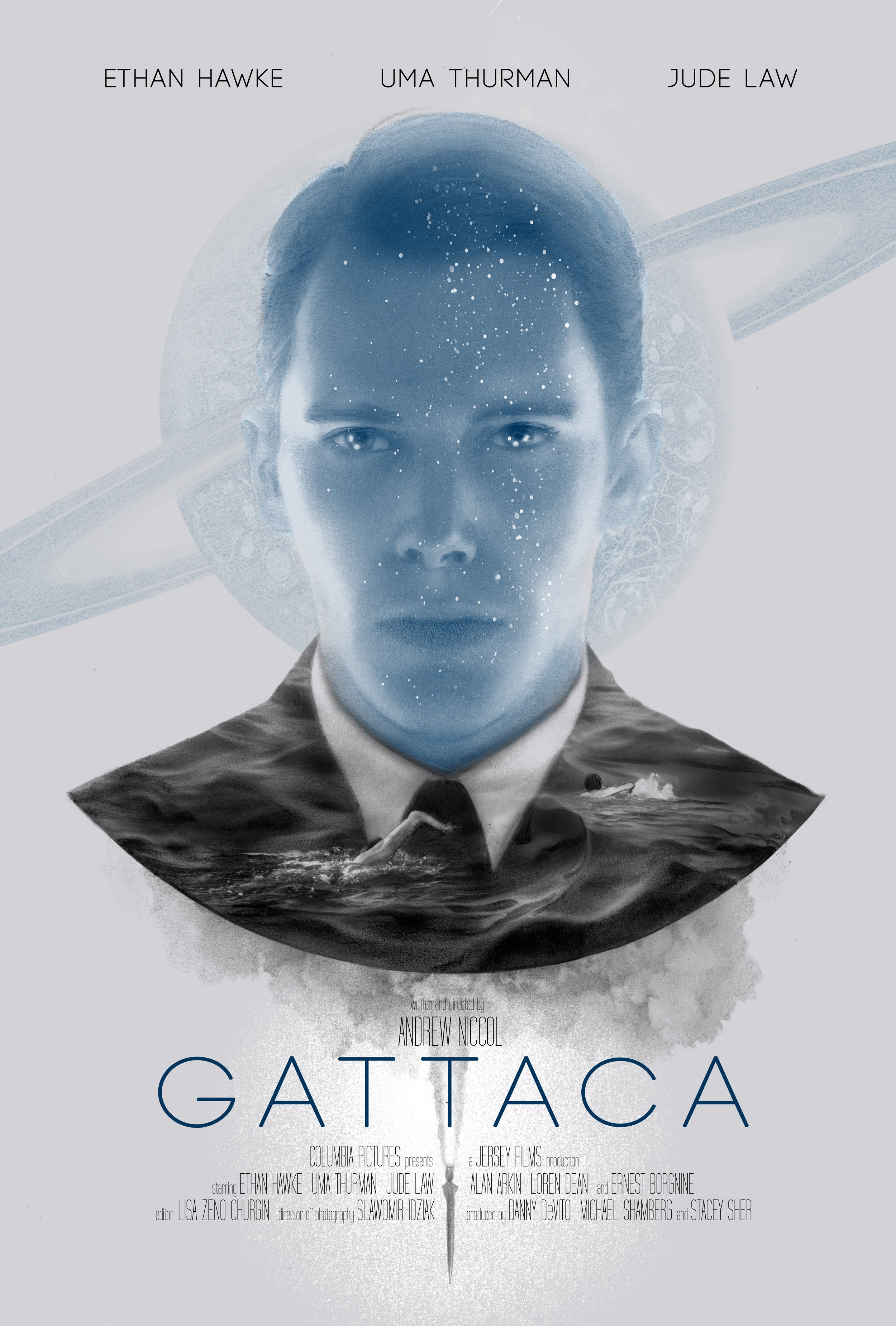 """Gattaca - Invalid"" by Greg Ruth.  24"" x 36"" on Pearlescent paper.  Timed max edition of 100.  £52 ($65)"