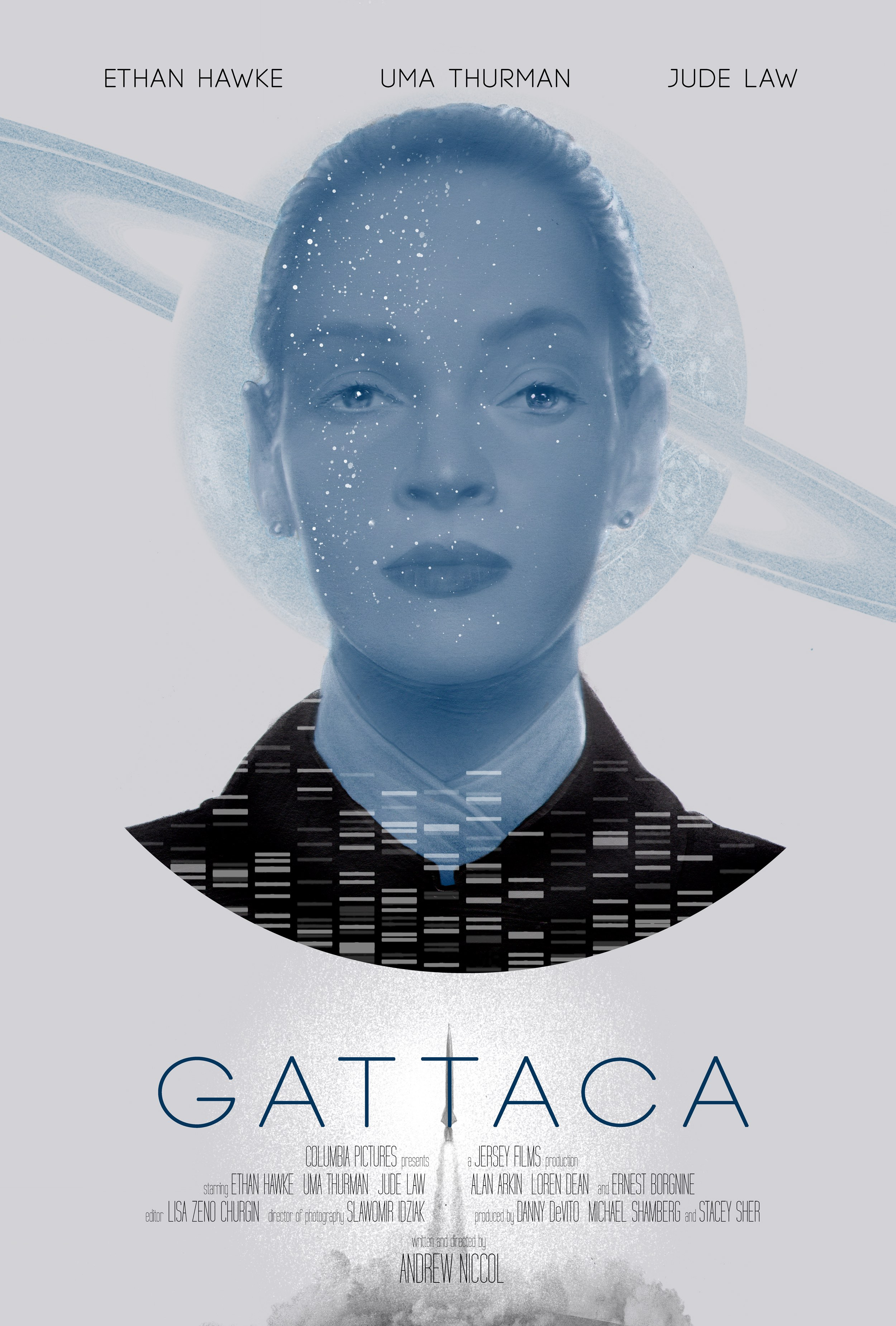 """Gattaca - Valid"" by Greg Ruth.  24"" x 36"" on Pearlescent paper.  Timed max edition of 50.  £54 ($68)"