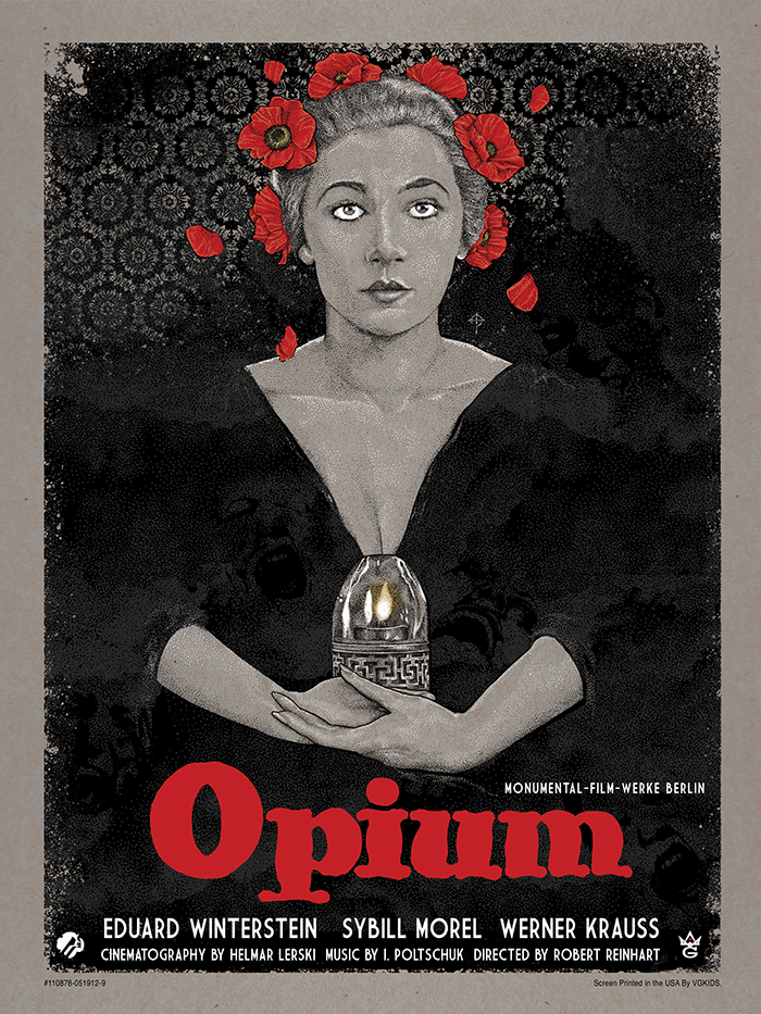 """Opium"" by Timothy Pittides.  18""  x 24"" 5-color Screenprint w/ metallic gold.  Ed of 70.  $35"