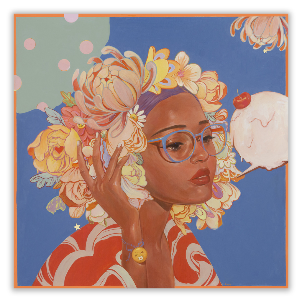 """""""Sweetness #2"""" by Helice Wen.  14"""" x 14"""" Giclee, hand-embellished.  Ed of 40 S/N.  $44.95"""