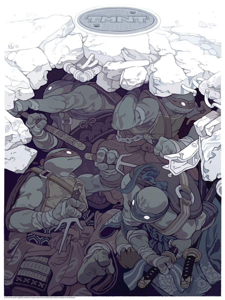 """TMNT (Samurai) by Sachin Teng. 18""""x24"""" screen print. Hand numbered. Edition of 150. Printed by D&L Screenprinting. $40"""