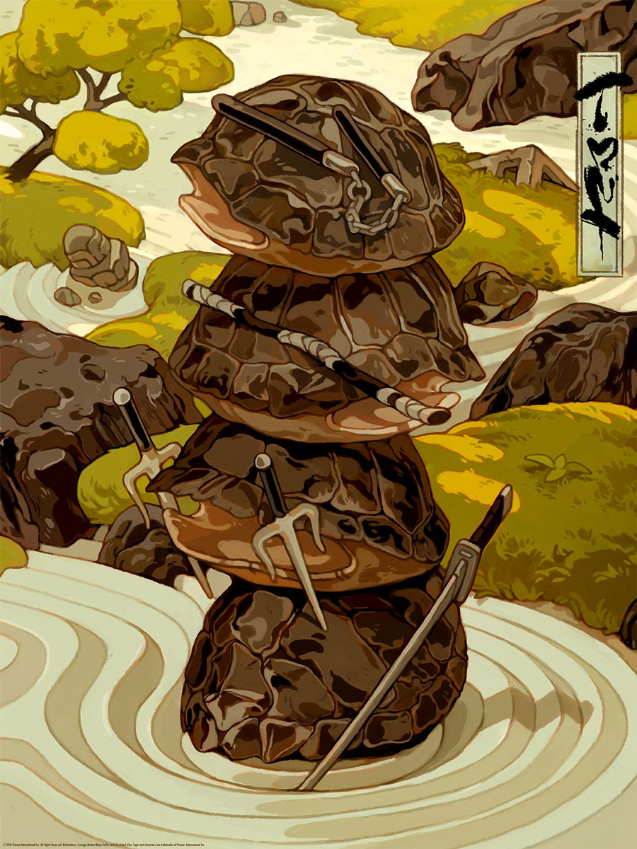 """TMNT (Zen) by Sachin Teng. 18""""x24"""" screen print. Hand numbered. Edition of 150. Printed by D&L Screenprinting. $40"""