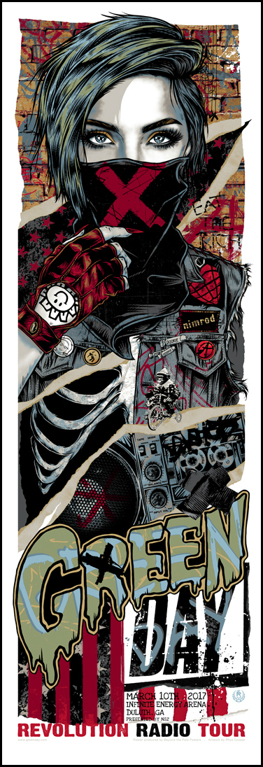 Green Day Red Hot Chili Peppers Gig Posters By Rhys Cooper