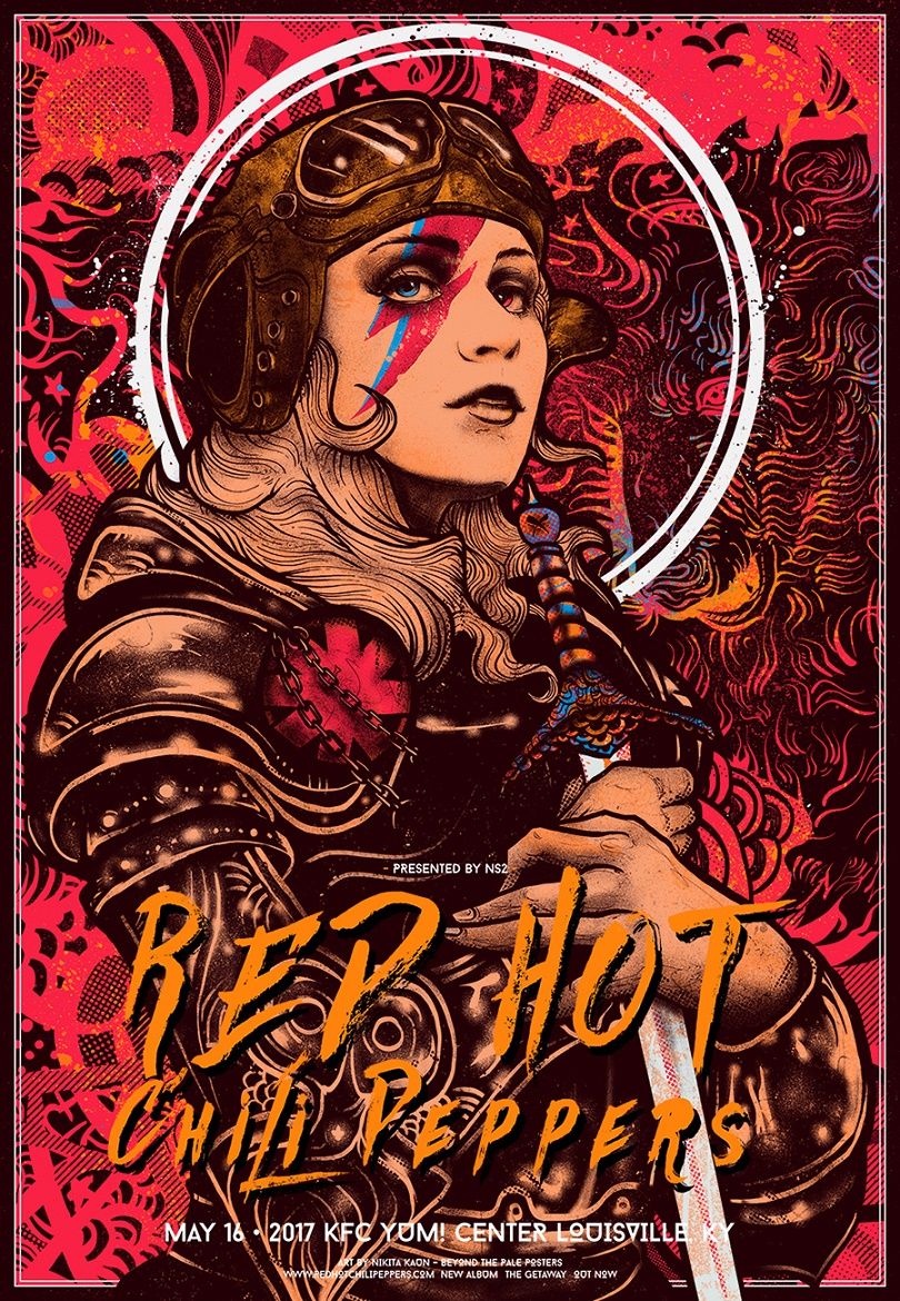 red hot chili peppers louisville ky 2017 by nikita kaun 411posters. Black Bedroom Furniture Sets. Home Design Ideas