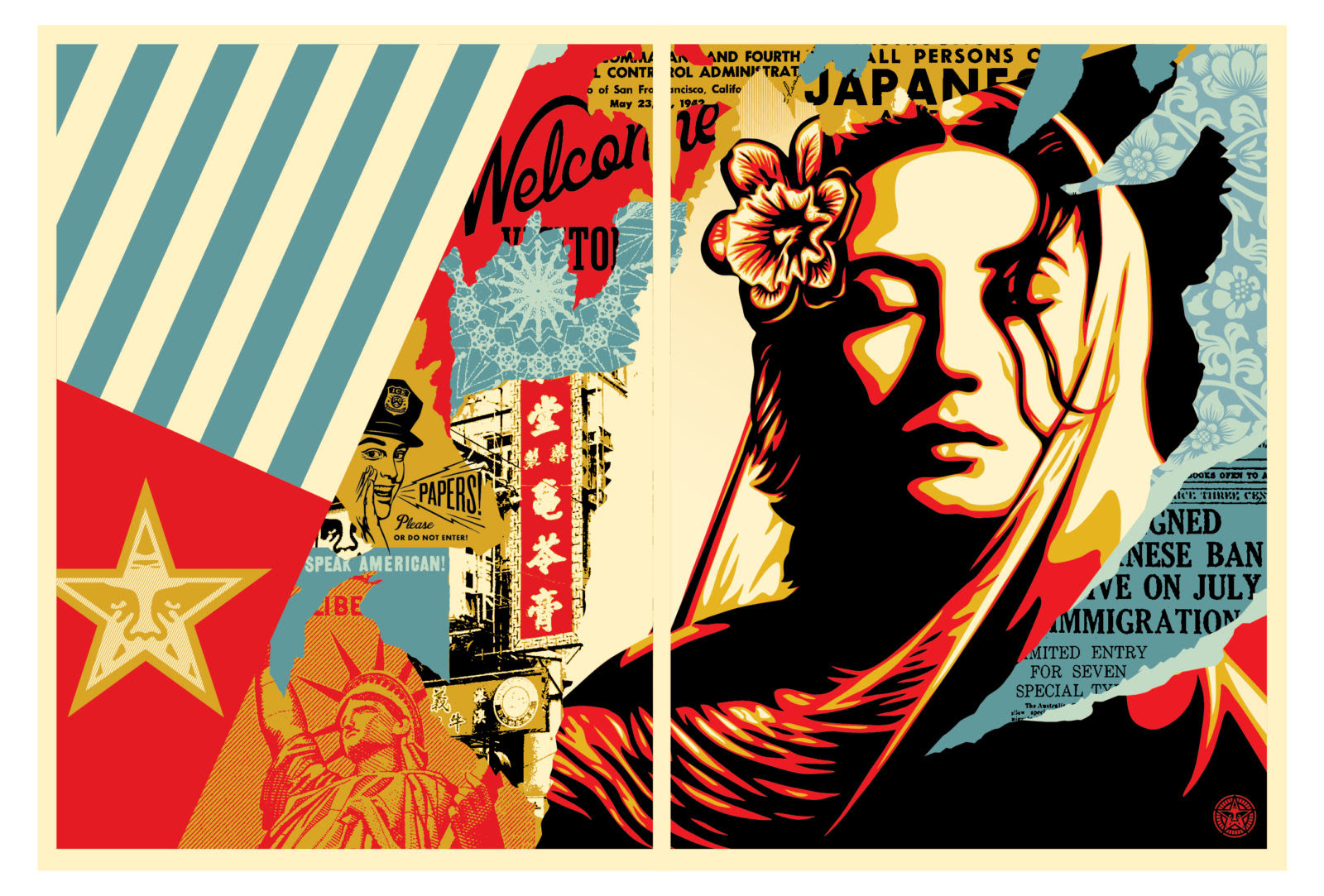 """""""Welcome Visitor"""" by Shepard Fairey 