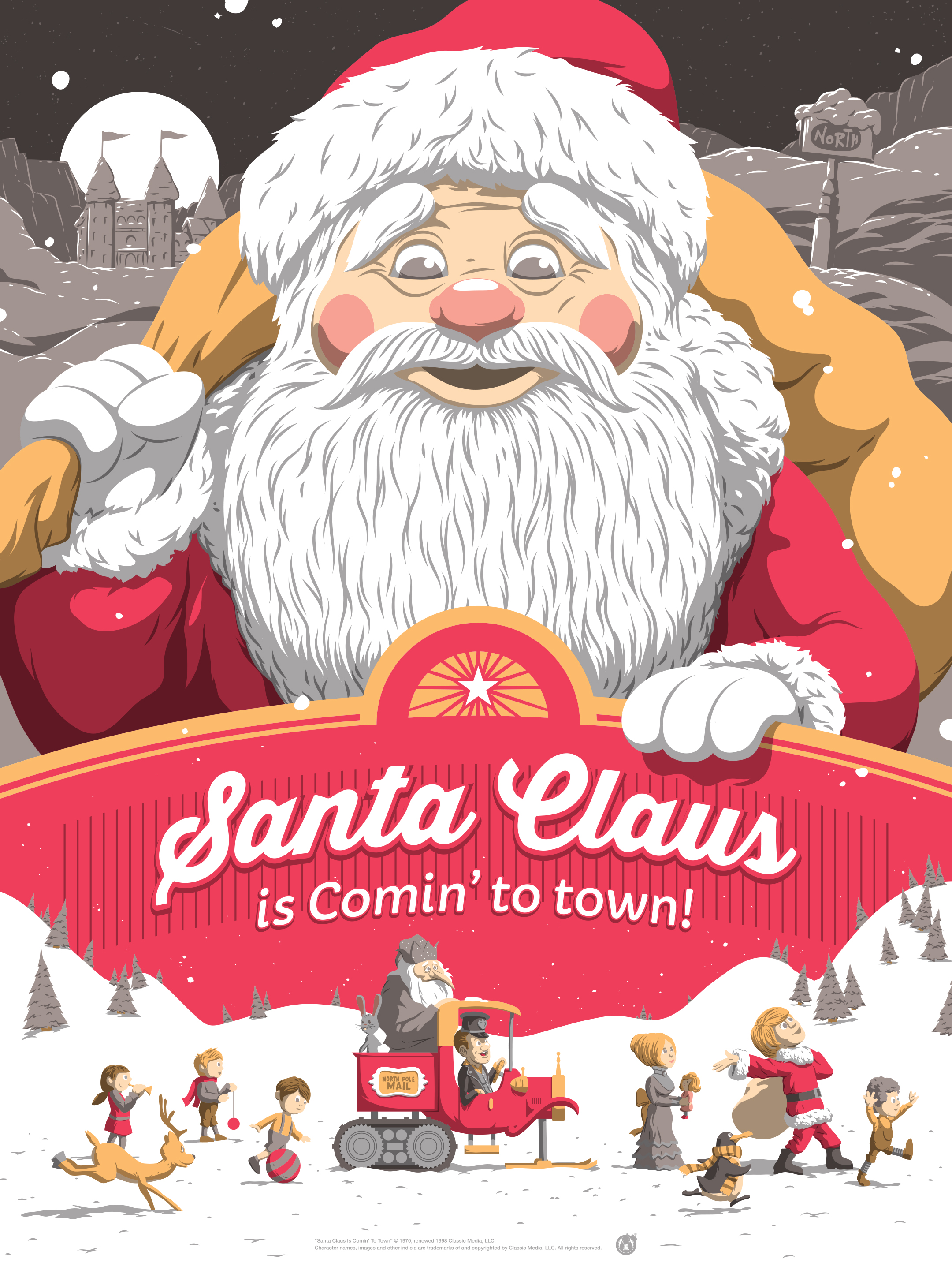 """""""Santa Claus is Comin' to Town!"""" by Florey 