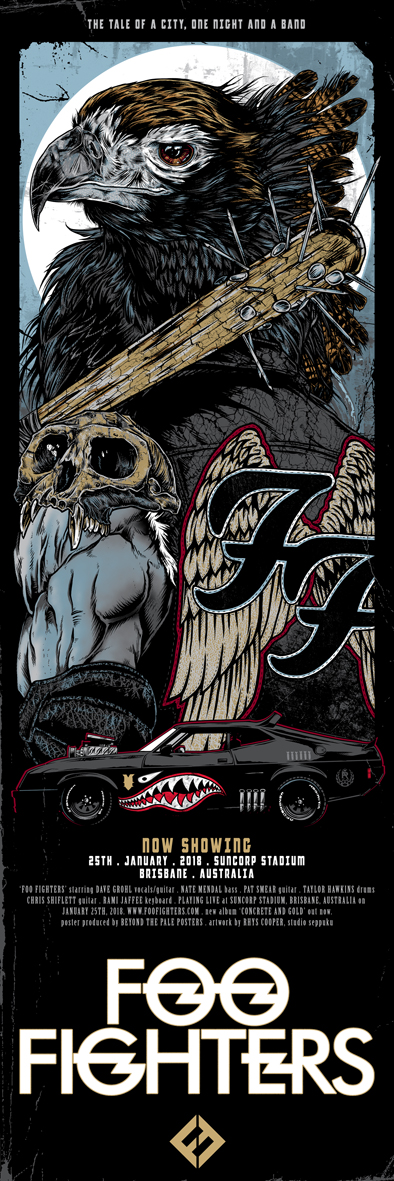 One by One Album Cover Poster Giclée Foo Fighters
